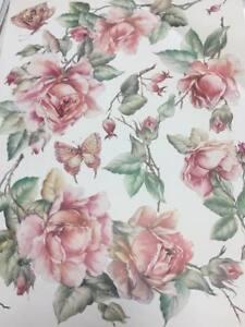 carta per Decoupage Decomania cm. 30x40 con rosa rosa cod. 813