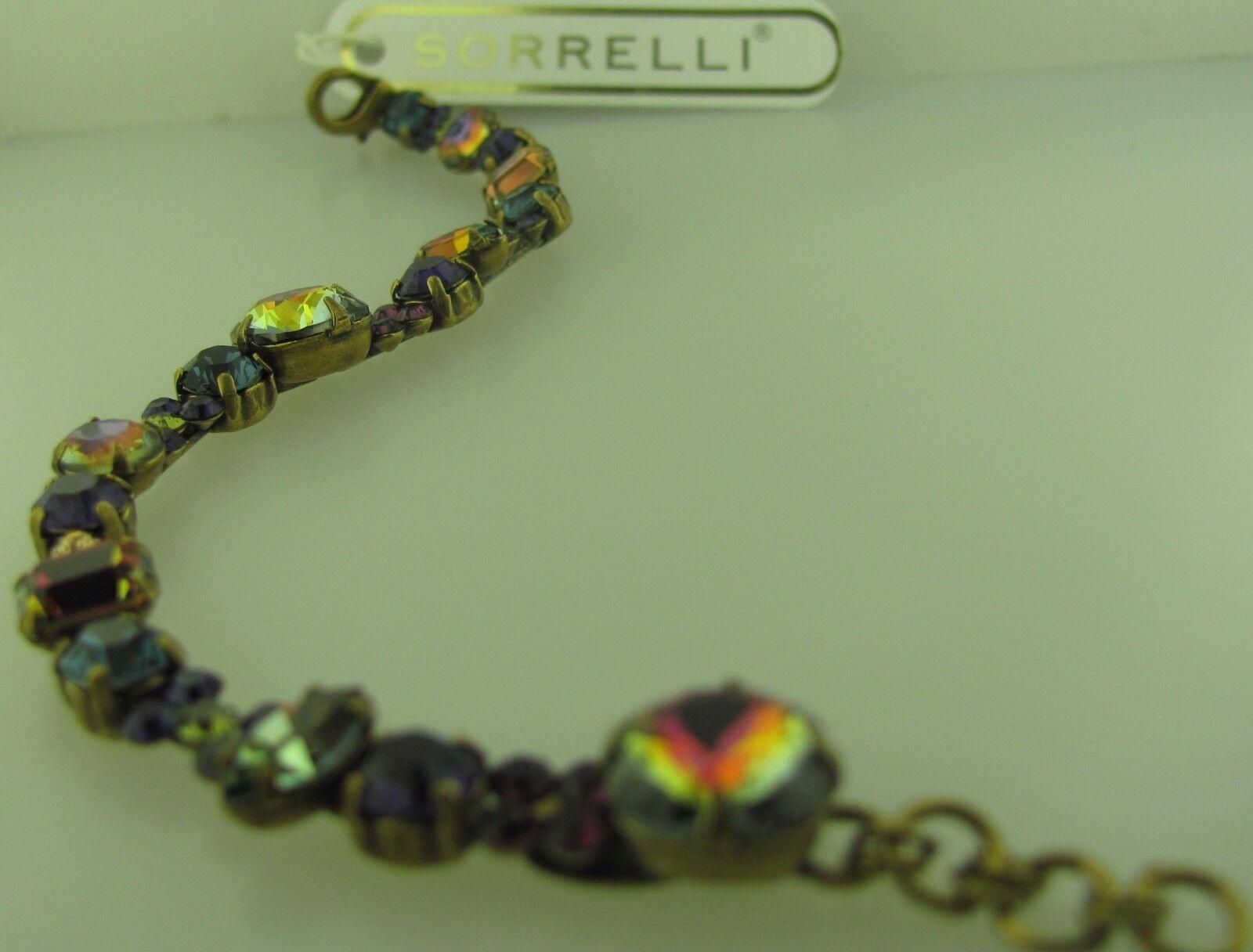 Sorrelli Vibrant Jewel Tone Core Collectn Bracelet BCD2AGVJT Antique gold tone