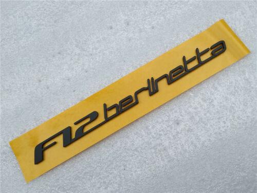 Parts Accessories Automotive Ferrari F12 Rear Emblem Badge F12 Berlinetta Black Color 1 Piece Brand New