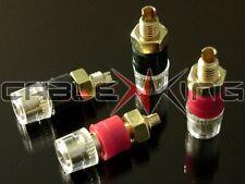 4 x Altoparlante isolati vincolante posti / MORSETTI. Premium 24K Gold Plate for 4mm