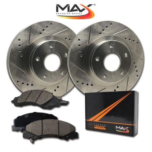 For 2007-2011 2012 Suzuki SX4 Front Drill Slot Brake Rotors /& Ceramic Pads