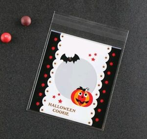 12-Self-Adhesive-Halloween-Cellophane-Party-Favor-Gift-Bags-10-x-11cm