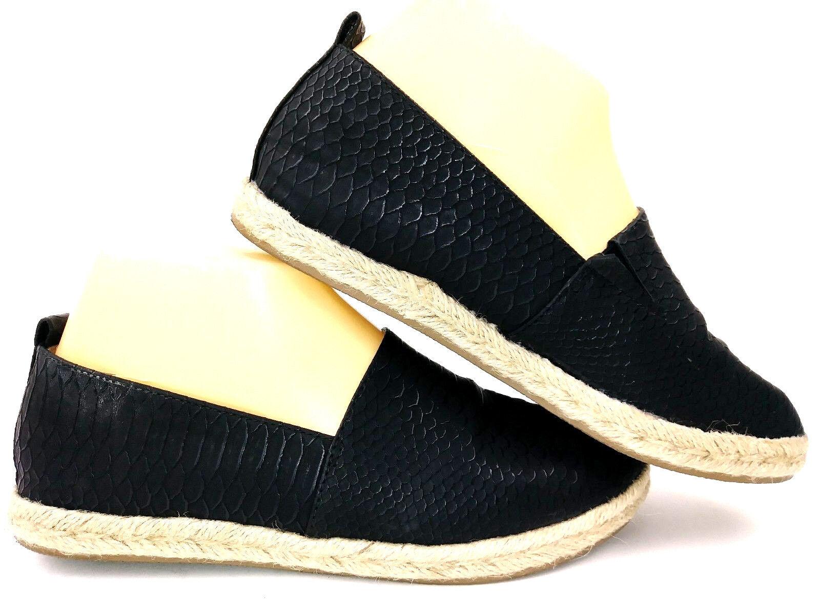 Brash Womens Espadrille Flats Size 7 Black Slip On Shoes