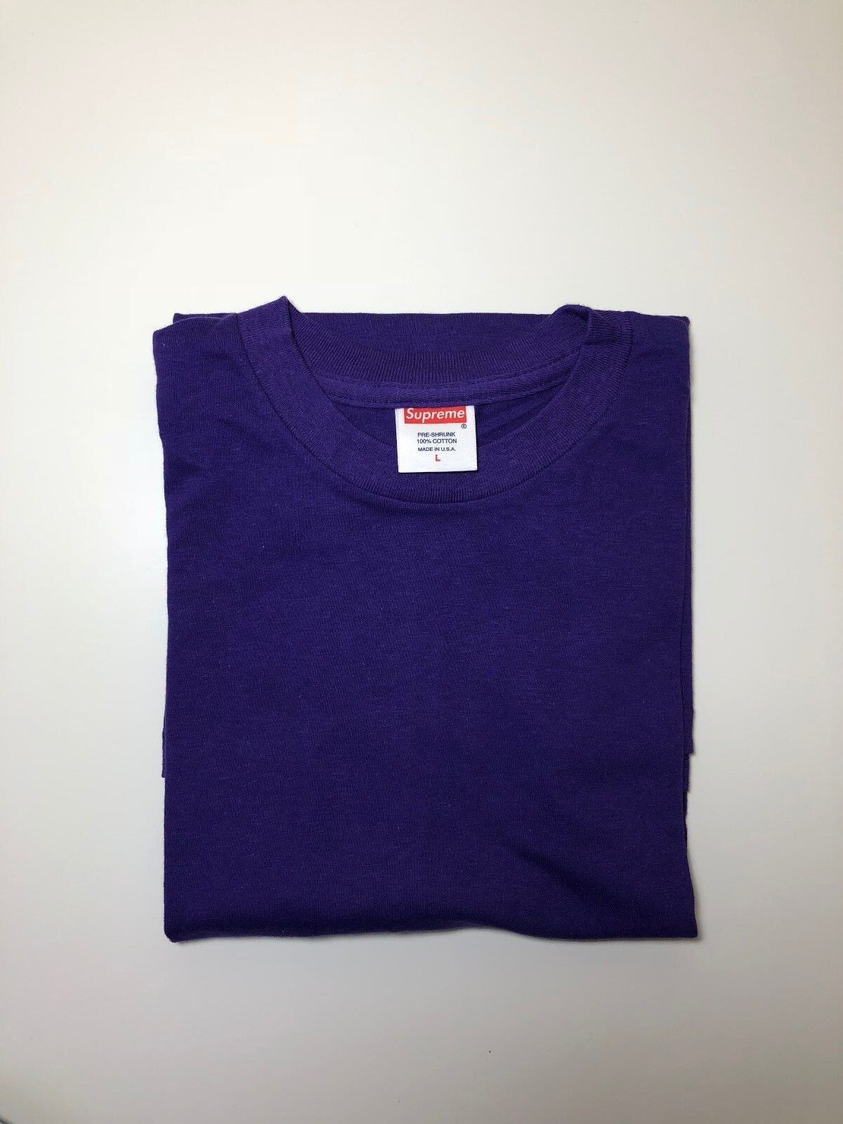 Supreme Blank Tee T-Shirt Purple Kmart Box Logo Large