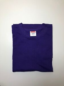 1db6b066 Image is loading Supreme-Blank-Tee-T-Shirt-Purple-Kmart-Box-