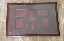 """19 x 28"""" Bombay Company mahogany wall picture frame photo box family wood large"""