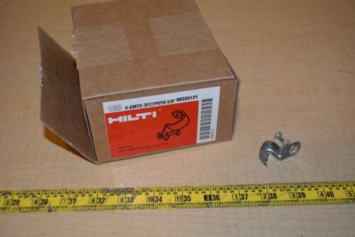 """Hilti Thin Wall Conduit Clip X-EMTC 3//8"""" Conduit Clips ZF27P8TH-3//8"""" 100"""
