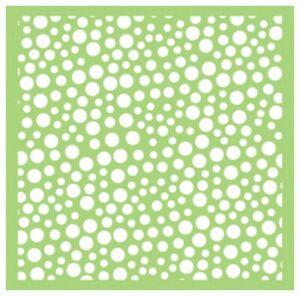Kaisercraft TEMPLATE / STENCIL 6x6 Designer Template - Bubbles Dots Circles