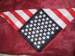 "Standard 22/"" x 22 100/% Cotton *American Flag* Bandana Doo-rag Duck Dynasty"