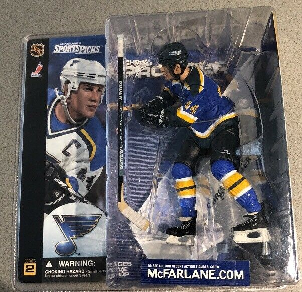 McFarlane CHRIS PRONGER CHASE VARIANT ST LOUIS blueES NEW IN BOX blueE JERSEY