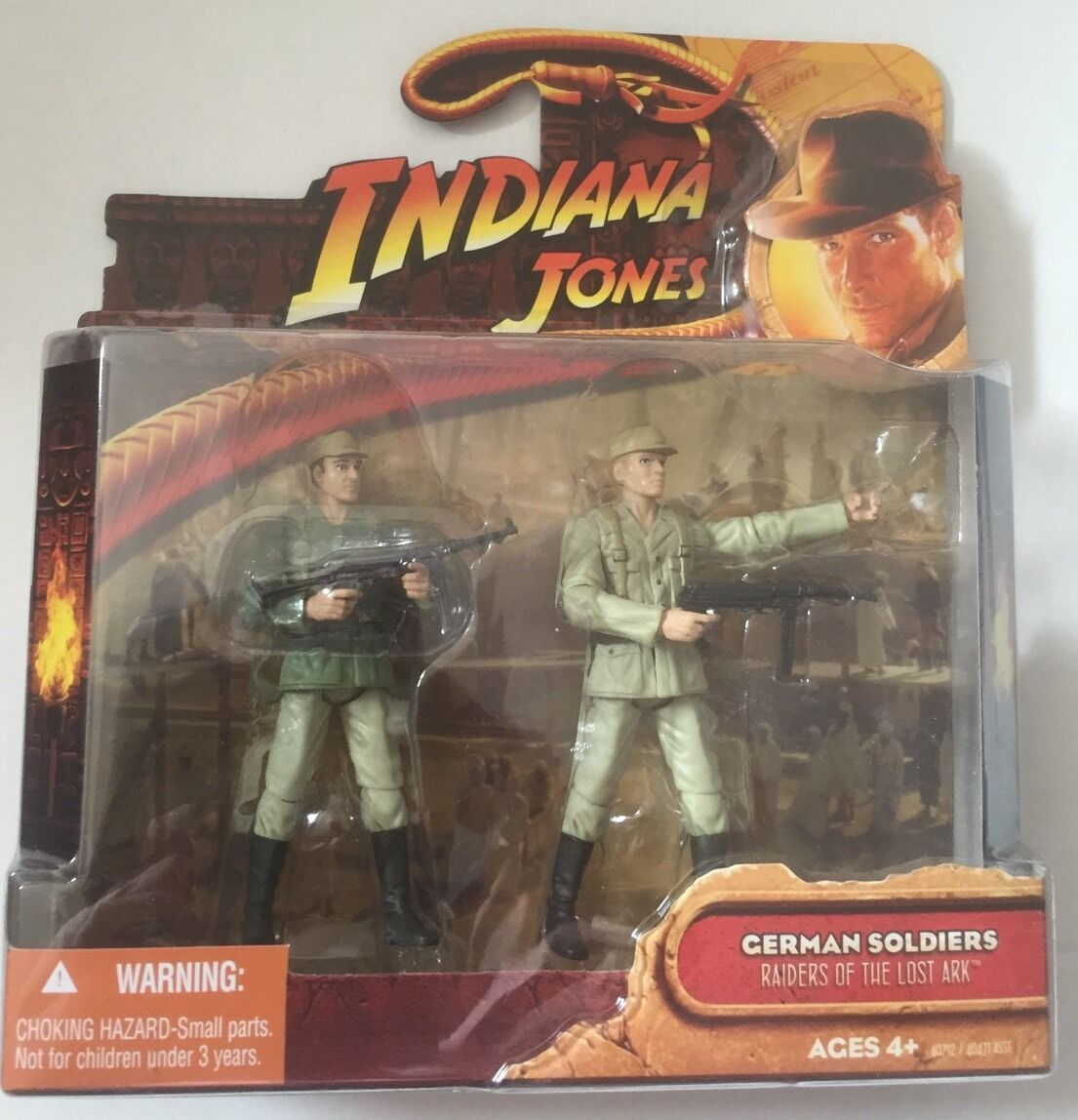 Indiana Jones Action Figure of 2 GERMAN SOLDIERS  From The Lost Ark 3.75  Tall