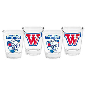 Western-Bulldogs-AFL-Shot-Glasses-AFL-OFFICIAL-MERCHANDISE