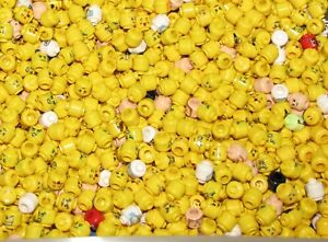 Details about LEGO LOT OF 50 NEW MINIFIGURE HEADS TOWN CITY PIRATE NINJAGO  FIGURE YELLOW FLESH