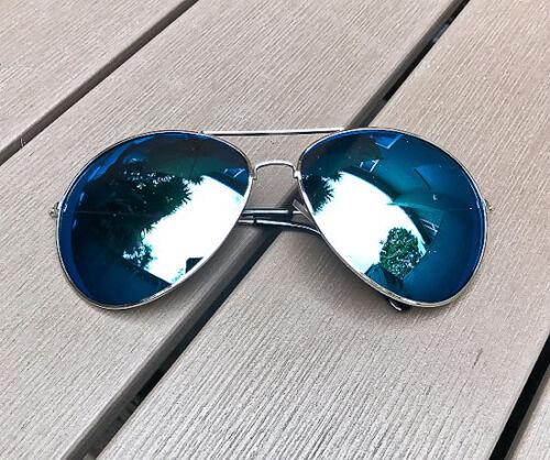 90 S Surdimensionné Large Rock Chick XXL aviateur couleur miroir Grand Femmes Lunettes De Soleil XL