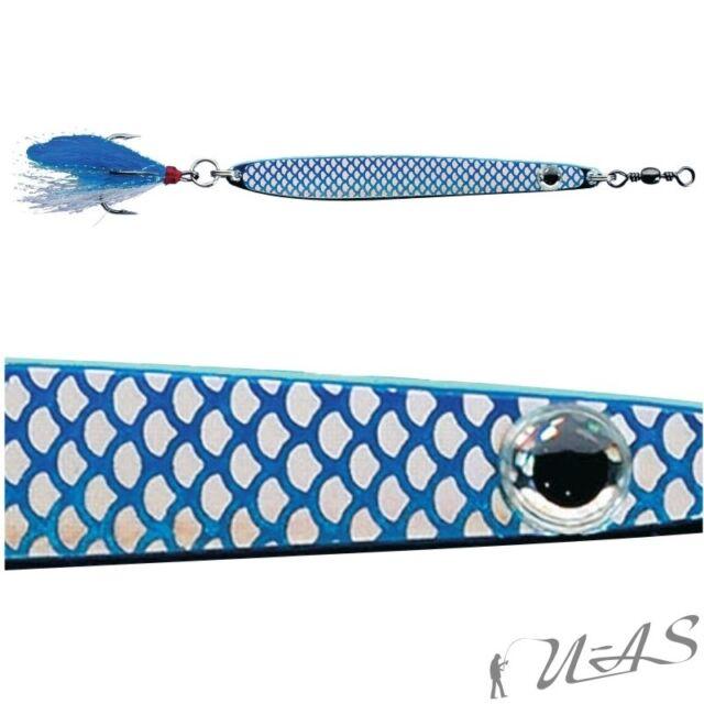 DAM 10 Stück FZ Dressed Seatrout Meerforellenblinker Blau-Silber 28g 5063-028