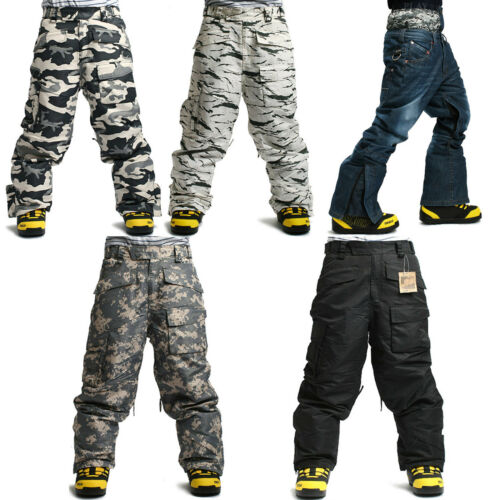SOUTH PLAY Top Quality Mens Ski Snowboard Waterproof Snow Winter Pants Trousers