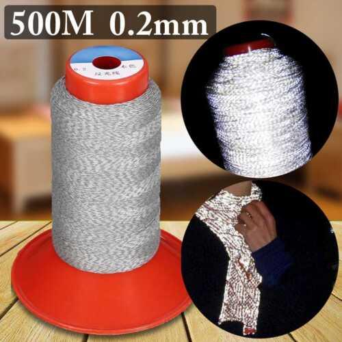 500 m broderie machine à coudre fil polyester Nuit Réfléchissant Bricolage Artisanat