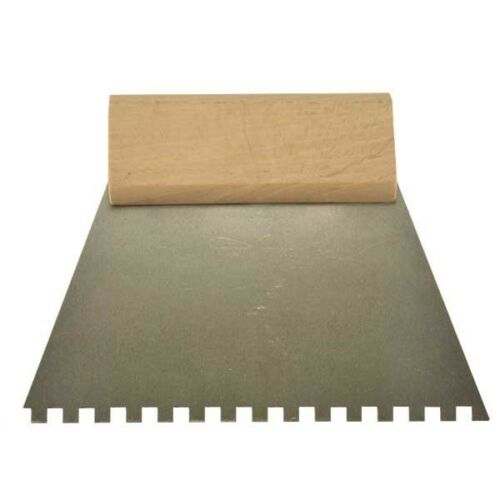 """Tiling Adhesive Glue Spreader 10/"""" Comb 250mm Square Notched Teeth Serrated DIY"""