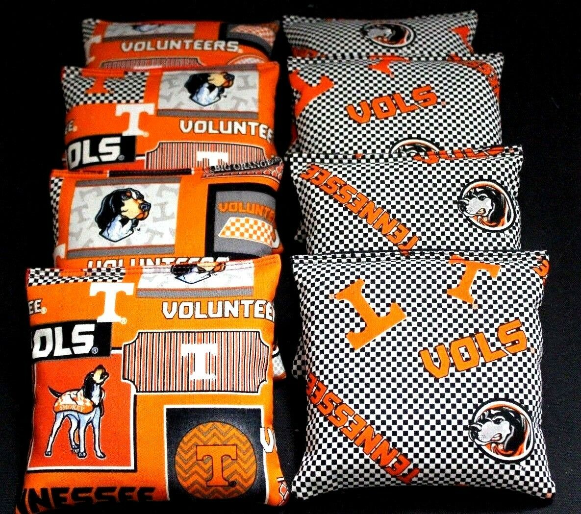 University of Tennessee Cornhole Bean Bags 8 ACA Volunteers Vols UT Toss Bags