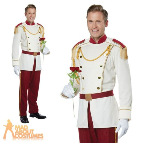 Adult Mens Royal Storybook Prince Costume Fairy Tale Fancy Dress Outfit