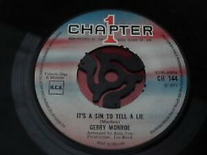 096 7034  45 RPM   GERRY MONROE  It039s A Sin To Tell A Lie  Sometimes CH144 - Aberdeen, United Kingdom - 096 7034  45 RPM   GERRY MONROE  It039s A Sin To Tell A Lie  Sometimes CH144 - Aberdeen, United Kingdom