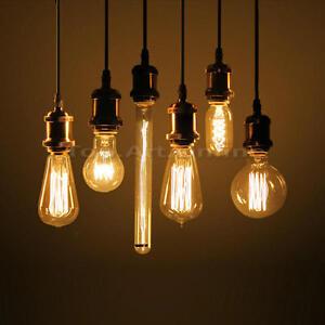 vintage retro e27 edison bulb antique leuchtmittel filament gl hbirne deko lampe ebay. Black Bedroom Furniture Sets. Home Design Ideas