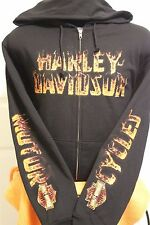 Harley-Davidson Mens's Never Trade The Tri Full Zip Hoodie L/S Large