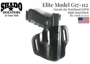 SHADO Leather Holster USA Elite Model G17-112 Right Hand Black OWB Glock Brand