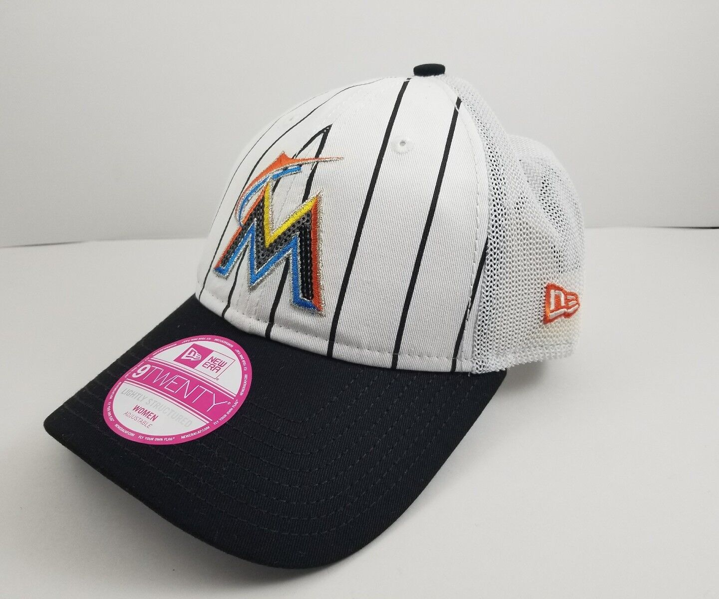 check out 5b25a 6b8a4 Miami Marlins Era MLB Women s Trucker Lust 9twenty Cap for sale online    eBay