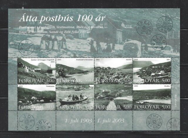 FAROE ISLANDS - 435 S/S - MNH - 2003 - COMMUNITIES WITH 100-YR OLD POST OFFICES