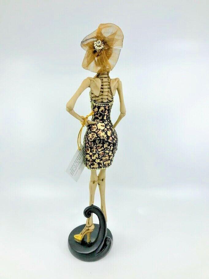 "60-65700A Mark Roberts Halloween Fall Decor; Glittering Fashion Skeleton 13/"""