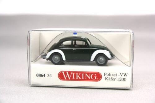 Wiking H0 1:87 Automodell VW Käfer 1200 Polizei  0864 34 NOS NEU OVP
