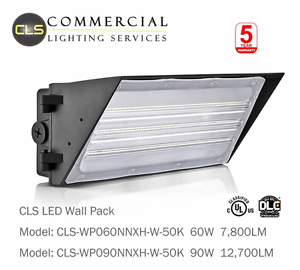 LED Wall Pack Light 60 Watt Area Light Parking Lot Photo Control 5K 120//277 VAC