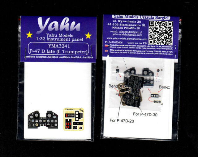 - Instrument panel yma3241// YAHU Models P-47 Thunderbolt 1:32 late