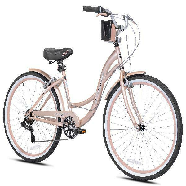 "Kent Cruiser Bike 26/"" Women Comfort Beach Bicycle Shimano 7 speed Rose Gold New!"