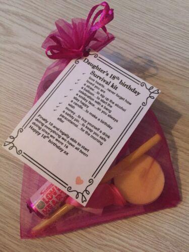 Fille/'S 18th Anniversaire Fun kit de survie unique faite main cadeau *