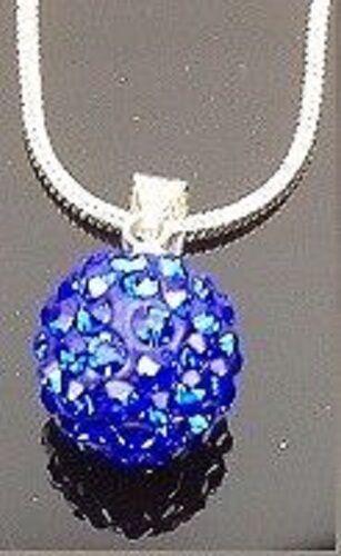 Shamballa Collar Cristal Checo Disco Arcilla 10 Mm Bola 12 Colores Regalo