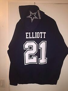 meet c0e77 571f4 Details about Dallas Cowboys Ezekiel Elliott Jersey Style Hoodie Hoody  Hooded Sweatshirt