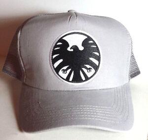 Agents SHIELD Widow Logo Baseball Trucker Cap Hat-Grey Cap-FREE S H ... b196c83a339