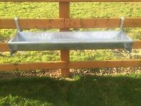 4' Foot Cattle Sheep Horse Gate Trough Hook Over Hang On Galv Feed Very Heavy