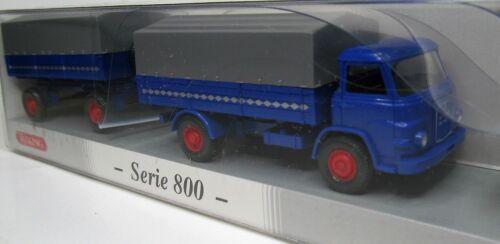 Wiking 1:87 MAN 415 F Pritschenlastzug OVP 0411 50 Sonderfarbe enzianblau PMS