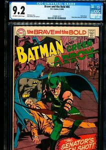 BRAVE AND THE BOLD #85 CGC 9.2 Green Arrow don new costume! NEAL ADAMS ART!