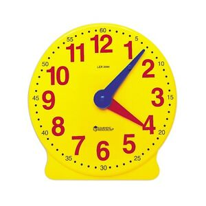 Geared Large Demonstration Classroom Teaching Aid Learning Clock ...