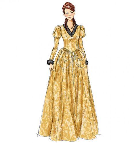 Mccalls cosplay Damas patrón de costura 2023 histórico Floor Length vestido con..
