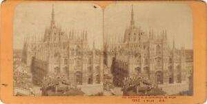 Milan-La-Cattedrale-Italia-Italia-Stereo-Jean-Andrieu-Parigi-Albumina-Ca-1870