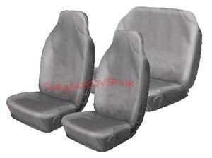 Toyota-Hilux-Heavy-Duty-Grey-Waterproof-Car-Seat-Covers-Full-Set
