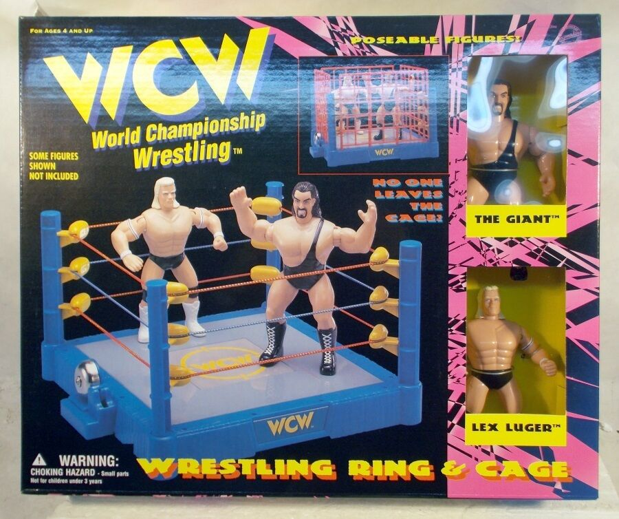 WWE WCW Wrestling Ring Cage Match With The Giant & Lex Luger (MISB) Big Show