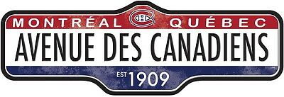 NHL MONTREAL CANADIENS STREET SIGN