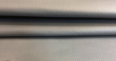 Gray Genuine Lambskin Leather Textured Hide Upholstery Fabric Craft Material 914