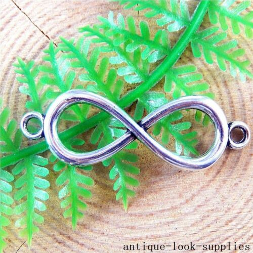 20pcs Vintage Silver Alloy Infinity Charms Pendants Jewellery Connectors 51212